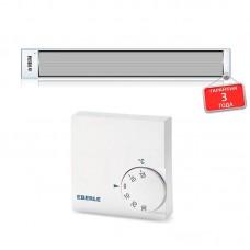 Потолочный инфракрасный обогреватель EKOSTAR E600 c терморегулятором обогревает до 12 кв.м используется как система отопления.